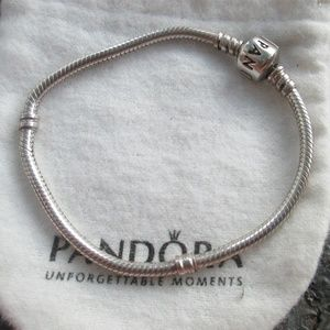 Pandora charm bracelet 7.1 Sterling silver